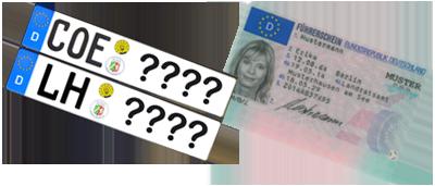 Wunschkennzeichen-Reservierung und Terminreservierung für KFZ-Zulassung und Führerscheinstelle