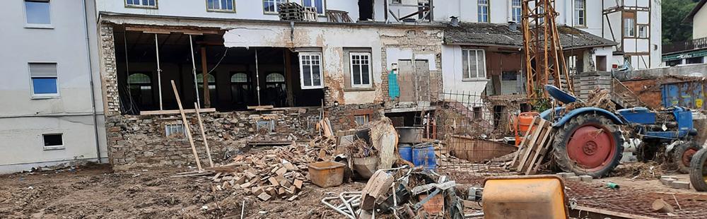 Bild aus dem Gebiet der Flutkatastrophe